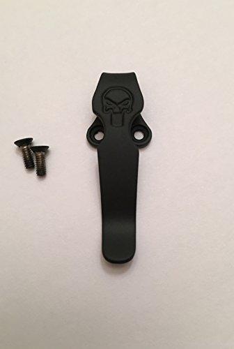 Black Titanium Deep Pocket Clip For Emerson CQC-7 CQC-15 A-100 Roadhouse Horseman Knives