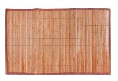 LEYENDAS Alfombra Antideslizante de Bambu,Alfombrilla de baño,Pasillo o Salon Repelente al Agua para la Ducha, marrón Claro (80_x_120_cm)