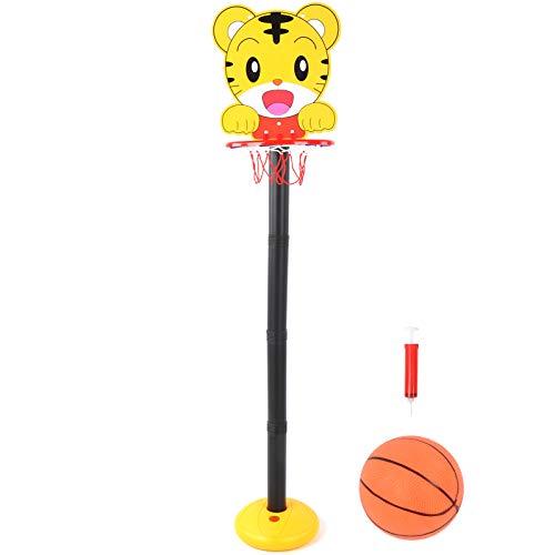 Canasta de Baloncesto de Juguete con Base Interior Hueca Soporte de aro de Baloncesto Suave y fácil de Mover, para Que jueguen los niños, para la Capacidad atlética de los niños