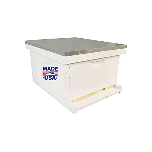Complete Bee Hive Kit, with 10 Frames, and Waxed Foundation Completely Assembled, Made in The USA by...