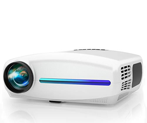 Native 1080P Projector, WiMiUS Upgrade 7000Lux HD Home & Outdoor Movie Projector, Support 4K 300' Screen w/ 10W Speaker & 4D ±50° Keystone Cor, Compatible with Fire TV Stick, PS4, Laptop, iPhone