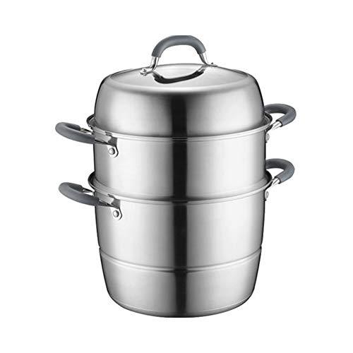 ollas para cocer al vapor grande Pasta cacerolas para induccion,Estufa de horno de olla multipropósito de acero inoxidable 304 de gran capacidad universal-26cm