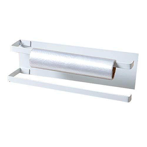 KU Syang Soportes de Papel de Cocina Soportes de Rollo para BaaO Toalleros de Inodoro Perchas Almacenamiento en el Hogar Organizador de Estantes de Tejidos Blanco