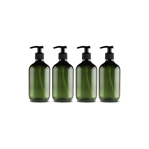 Leikance Empty Shower Gel Bottles,300ml Refillable Pump Bottles for Dispensing Lotions Shampoos 4Pcs