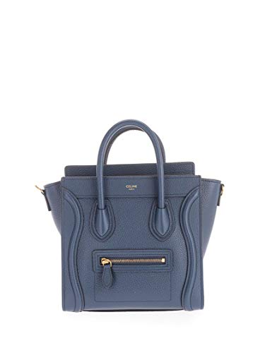 Luxury Fashion | Céline Dames 189243DRU07OZ Donkerblauw Leer Handtassen | Lente-zomer 20