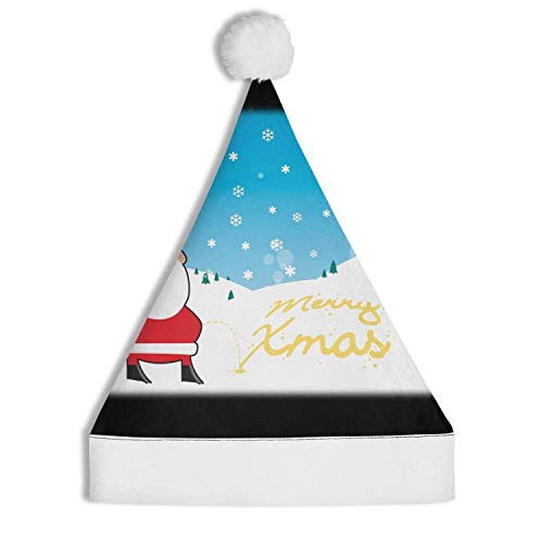 Christmas Santa Claus Snowflakes Peeing Santa Hat Christmas Decoration Hat Non-Woven Hat Fashion for Adults and Children