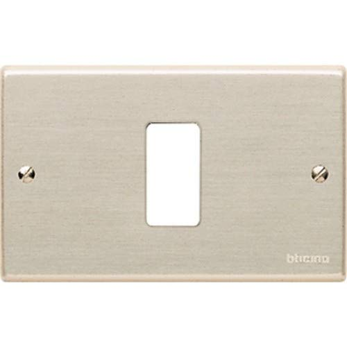 503/1 Placa 1 módulo aluminio con tornillos Magic Bticino