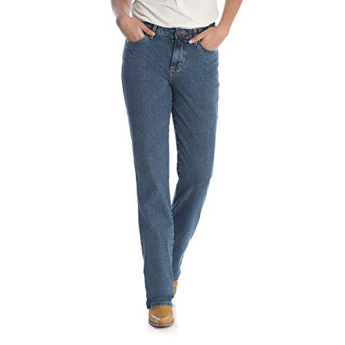 Wrangler Women's Cowboy Cut Slim Fit High Rise Stretch Jean, Stonewash, 3W x 32L