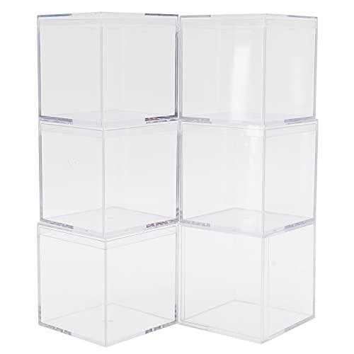 6 juegos de cajas de dulces transparentes de plástico, con tapa separada, contenedores de almacenamiento de caramelos, regalos de fiesta, para bodas, golosinas, mini regalos