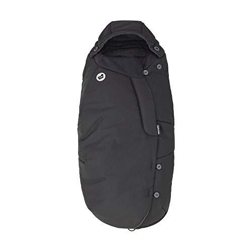 Maxi-Cosi Fußsack, kuschelig warmer Universal Winterfußsack, passend für fast alle Kinderwagen und Buggys, nutzbar ab der Geburt bis ca. 3,5 Jahre, essential black