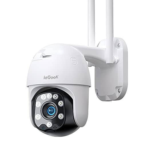 ieGeek 360° CCTV Camera with Color Night Vision, Auto Tracking Security...