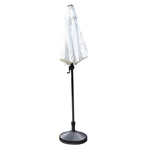 HWF Sombrilla Pequeño Sombrilla de Patio, Sombrillas de jardín con manivela e inclinación, Paraguas de Mesa de Mercado al Aire Libre para jardín/césped/terraza/Patio/Piscina, Blanco