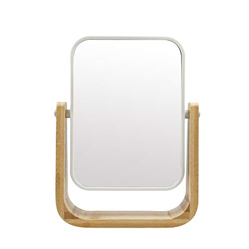 PARSA BEAUTY Kosmetikspiegel mit 5fach Vergrößerung 22 x 5 cm aus Bambus-Holz