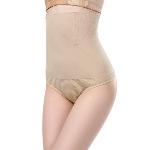 Shapewear Fajas Tanga Invisible Briefs Braguita Moldeadora Thong Cintura Media para Mujer String Reductora sin Costuras Sexy Panties Elástico Calzoncillos(Color:肉色,Size:XS)