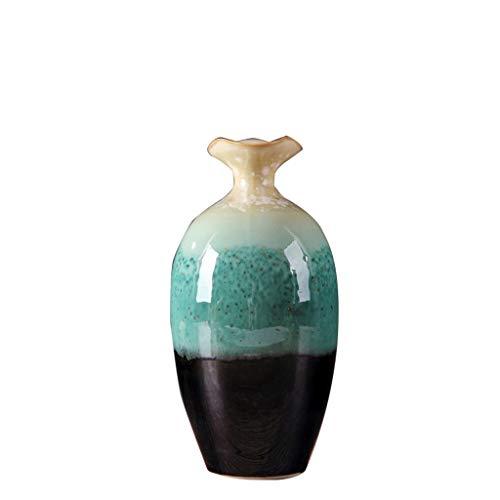 CDingQ - Jarrón decorativo para plantas con diseño de armario de vino, florero de cerámica fina con gradiente para dormitorio, balcón, florero hidropónico para jardín