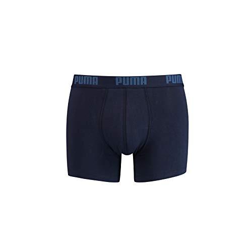 PUMA Herren Basic Boxers Boxer-Shorts, Navy, M (2er Pack)