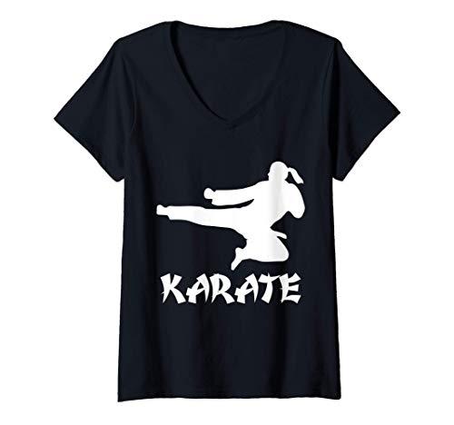 Donna Funny Karate sport Martial arts karate game karate fighter Maglietta con Collo a V