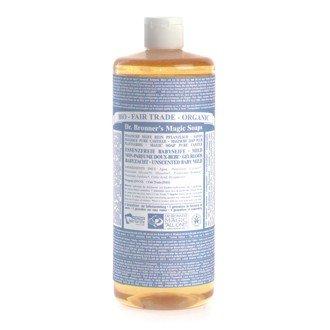 Dr. Bronner's Naturseife - Flüssigseife - 945 ml Baby-Mild (ohne Duft) Nachfüllflasche