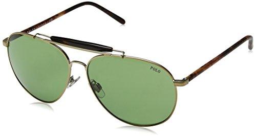 Ralph Lauren POLO 0PH3106 Gafas de sol, Pale Gold, 60 para Hombre