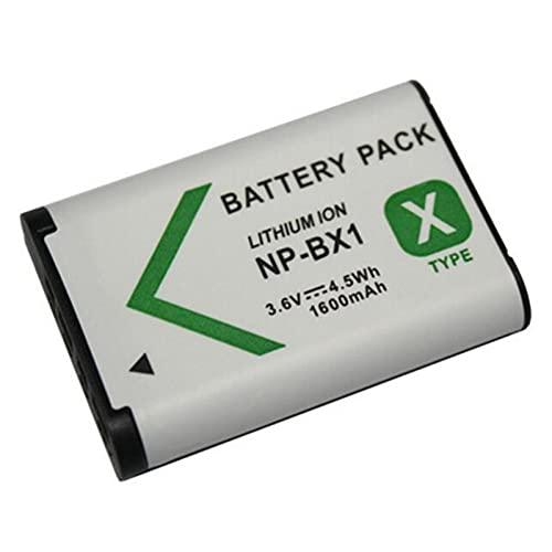 LOTUS POWER Reemplazo del Paquete de Batería NP BX1 1600mAh, Batería de Iones de Litio Recargable NP-BX1 para Cámara Sony DSC-HX90V / RX100 / RX100V / RX100 VII / WX500