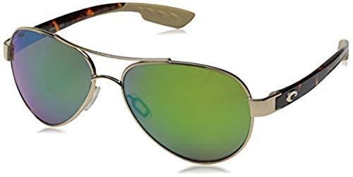 Bundle: Costa Women's Loreto Sunglasses Rose Gold/Blue Mirror 580P 56 & Carekit