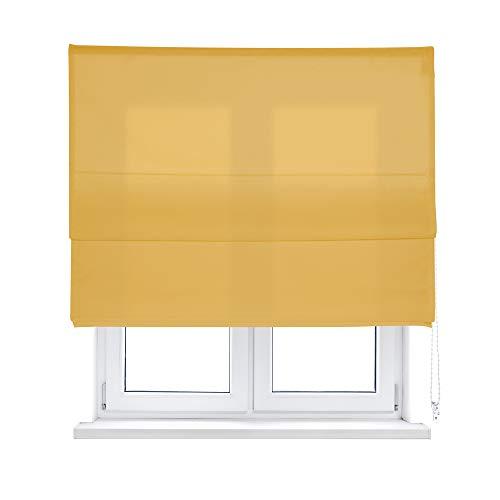 KAATEN Estor Plegable loneta Color Ocre (75_x_250_cm)
