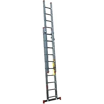 Homelux 825027 Escalera Aluminio Doble, 4 + 4 m, 2 x 15 Peldaños, 17.25 kg: Amazon.es: Jardín