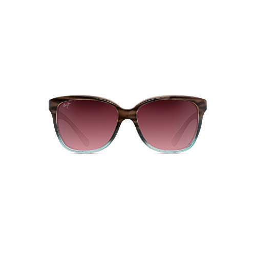Maui Jim Women's Starfish w/ Patented PolarizedPlus2 Lenses Polarized Fashion Sunglasses, Sandstone With Blue/Maui Rose Polarized, Medium