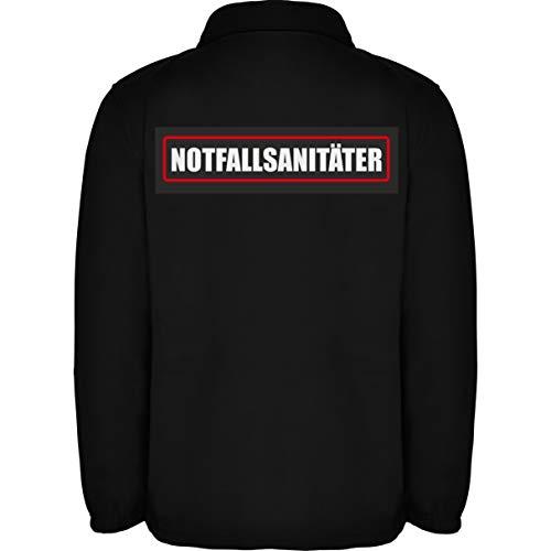 Notfallsanitäter Herren Fleece Jacke Jacket Pullover Full Zip L16 black (M)
