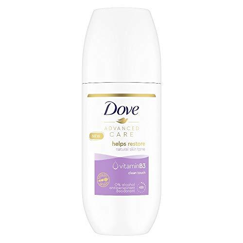 Dove Advanced Care Clean Touch Angereichert mit Vitamin B3 Anti-Transpirant Deo Roll-On für 48 Stunden Schweißschutz 100 ml