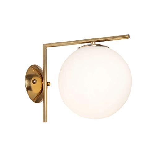QJY Creatieve wandlamp, plafondlamp, slaapkamer, hal, rond, glazen bol, wandverlichting, lichaam, muur, lampenkap