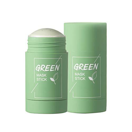 tairong Mascarilla Facial de Arcilla purificadora de té Verde, Barra de Limpieza Profunda, Control de Aceite, mascarilla sólida antiacné, removedor de espinillas hidratante, mascarilla Facial