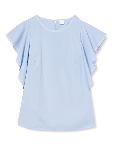 BOSS Ciguida Blusa, Azul (Light/Pastel Blue 450), 44 (Talla del Fabricante: 42) para Mujer