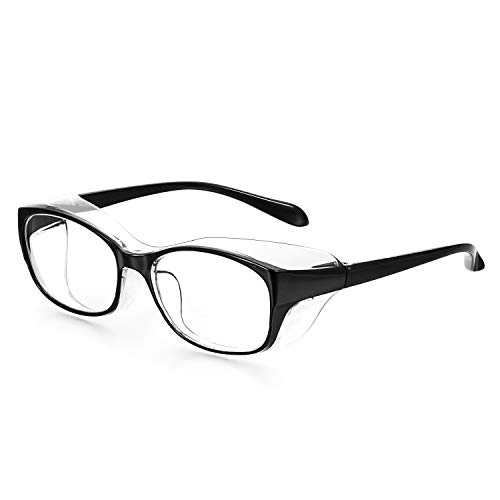 1PC Safety Glasses Anti Fog Blue Light Blocking Glasses for Men and Women Anti Pollen Safety Goggles Eye Protection Glasses UV400 Protection Black