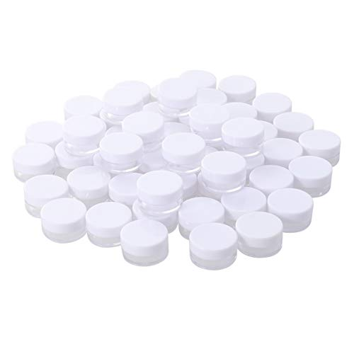 Minkissy 50 unidades de 5 g de crema facial vacías redondas para...