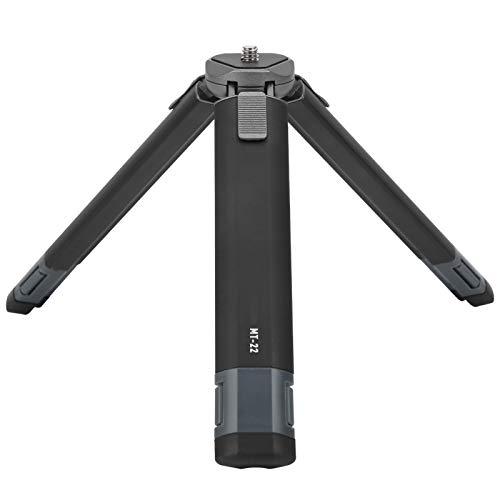 Houinmru Mini trípode, Mini trípode Macro de Escritorio Compacto portátil con Dos ángulos Ajustables, Soporte de cámara liviano para cámara de acción, Carga hasta 2.5 kilogramos(MT-22)
