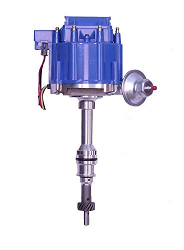 Taylor Cable 640630 HEI Performance Replacement Distributor Incl. Housing/Shaft/Volt Coil w/Dust Cover/Module/Distributor Cap/Rotor w/Brass Terminals HEI Performance Replacement Distributor