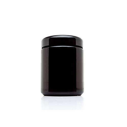 Nebula, StashGuard-Gläser, UV-Glas, luftdichter, geruchsneutraler UV-Aufbewahrungsbehälter, geruchsdicht, nachfüllbar, UV-Schutz-Vorratsdose, mit weiter Öffnung, glas, 250 ml