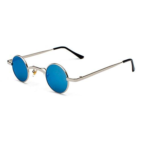 JiXuan Fashion Gothic Vampire Style Steampunk Rock Sunglasses Vintage Gafas Redondas Pequeñas