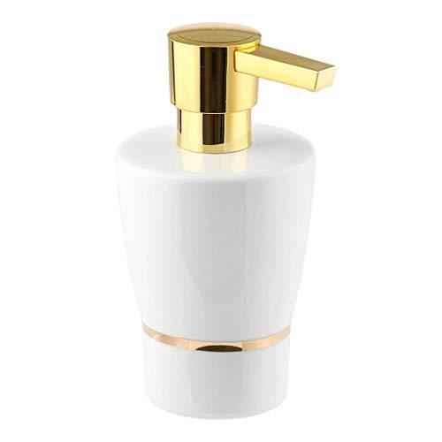 Dispensador de jabón de cocina Diseño moderno de recargable dispensador de jabón, Vacío ducha Botella de cerámica, con la bomba, for Baño loción, gel de ducha, aceite de masaje en Bathroom280ML (9,5 o