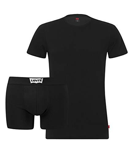 Levi's Herren Levis Bw Starterpack Giftbox 2p Boxershorts, Schwarz (Black 200), Large (Herstellergröße: 030) (2erPack)