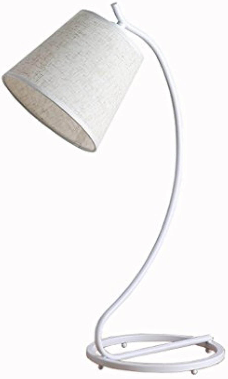 TIAN HENG XIN Tischlampe einfache Schlafzimmer Wohnzimmer Studie Nachttischlampe, Augenpflege lernen Mbel Lampe (Farbe   Wei-Button switch)