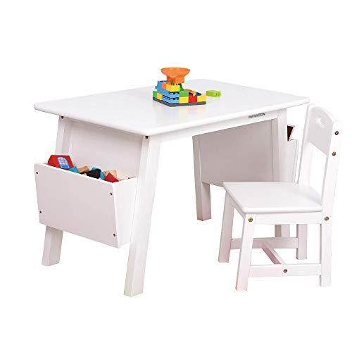 Tables Et Chaises pour Enfants en Bois Massif, Table D'éTude pour La Maternelle, Table De Jeu pour BéBé, Bureau De Peinture Zhuo pour La Maison, avec BoîTe De Rangement