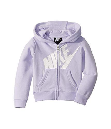 Nike Kids Baby Girl's Futura Full Zip Hoodie (Toddler) Lavender Mist 3T Toddler