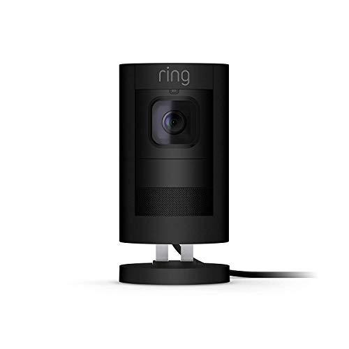 Ring Stick Up Cam Elite - Cámara de seguridad HD, comunicación bidireccional, compatible con Alexa, color negro