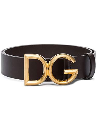 Luxury Fashion | Dolce E Gabbana Heren BC4369AV4798B421 Bruin Leer Riemen | Lente-zomer 20