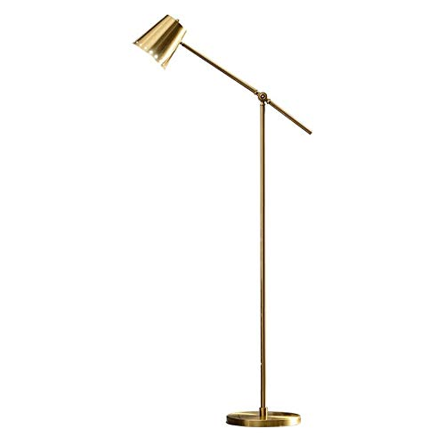 Hong Yi Fei-Shop Lámpara de Pie Moderna lámpara de pie Ajustable for el Dormitorio, Sala de Estar, Oficina, Estudio Lámpara de Piso, 61' H, latón Luz de Pie