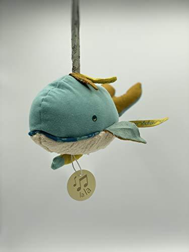 Moulin Roty Babyspieluhr Spieluhr Wal Blau