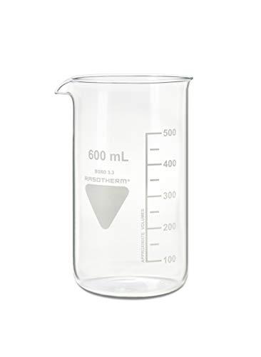 RASOTHERM Becherglas hohe Form mit Ausguss, (Boro 3.3), 600 ml