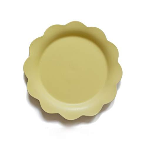 YUWANW Fleur Créative Assiette Plate En Céramique Western Plat Pâtes Steak Salade Bol Soupe Bol Petit Déjeuner Bol Assiette À La Maison Plat, Fleur Jaune Assiette Plate # 70